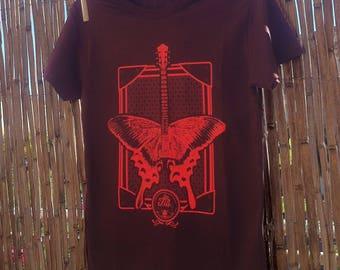 """flying guitar"" model t-shirt chocolate"