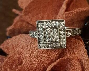 Pave Diamond Ring, Pave engagement ring