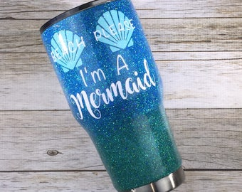 Beach Please I'm a Mermaid Glitter YETI/Beach Please I'm a Mermaid Glitter Ozark/ Beach Please I'm a Mermaid Glitter Tumbler