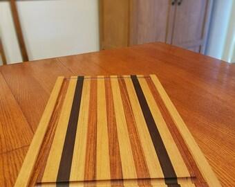 Cutting Board, Jatoba, Peruvian Walnut & Hickory