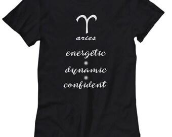 Aries Shirt, Women's tee with Aries zodiac sign