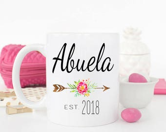 Abuela Mug, Gift for new Abuela, Grandparent pregnancy Reveal to Abuela, New Abuela coffee mug, Spanish Mug, Abuela gift idea, Abuela cup