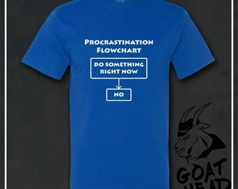 Procrastination, Funny Tshirts, Sarcasm, Mens Funny Tshirts, Sarcastic, Humor, Gift for Men, Husband Gift, Boyfriend Gift, Science, T-shirt