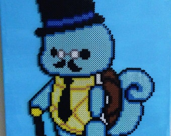 Sir Squirtle Perler Bead Art