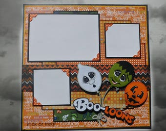 Boo-Loons Single Page Scrapbook Layout