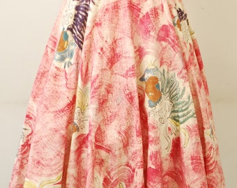 1940's/50's Mexican Hand Painted Wrap Circle Skirt / Swing Skirt / Pin Up / Rare Collectable Retro