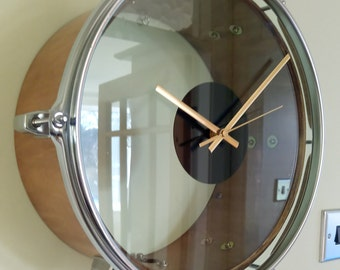 Drum Clock. Unique Genuine Upcycled Drum Item. Perfect for Stylish Homes or Man Caves. Ideal Gift For Musicians & Drummers