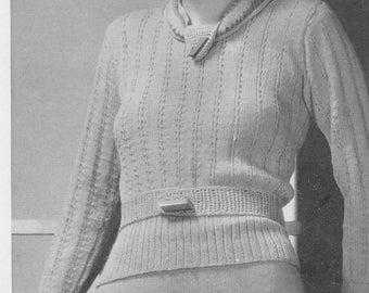 1934 Ladies Two Piece Dress