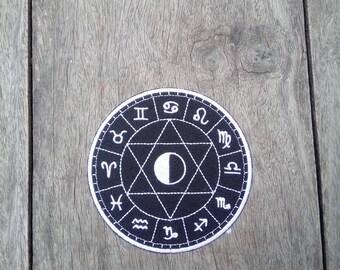 12 Zodiac Signs Aries, Leo, Sagittarius, Taurus, Virgo, Capricorn, Gemini, Libra, Aquarius, Cancer, Scorpio, Pisces - Iron on patch