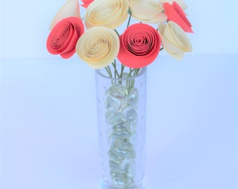 Bridal Bouquet,Paper Flower Bouquet, Baby Shower,Wedding Flowers, Centerpiece Flowers, Floral Arrangement, Mini Paper Flowers, Paper Flowers