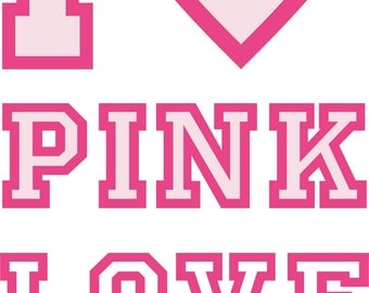 Love Pink SVG Cutting file, Cricut, Laser engrave, Cutting File, AI, CDR, eps, jpg, png and svg