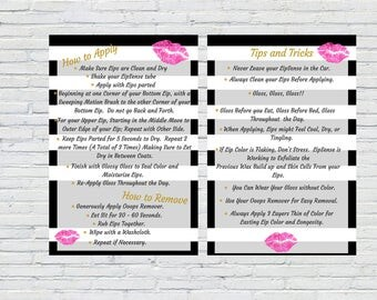 LipSense How to Apply | Tips & Tricks 5 x 7 Printable Flyer | Marketing Material | Instant Download | Marketing Kit | SeneGence | Digital