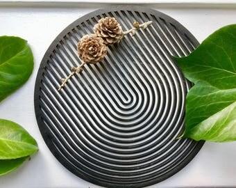 MOIRÉ trivet for hot dish 20 cm / wood trivets / wooden pot stand / wooden trivet / trivet tile / trivet for teapot