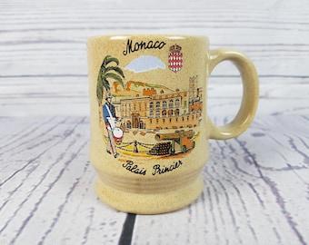 Vintage Monaco Palais Princier Prince's Palace Mug Coffee Cup Novelty Retro Decor Break Time Tea Hot Beverage Gift Stoneware Travel Souvenir