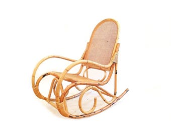 great vintage bentwood rattan rocking chair with bent wood rocking chair