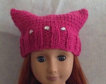 Knit Doll Kittycat Hat