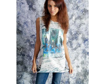 Rascal Flatts bleached distressed shirt - Reworked country band tee