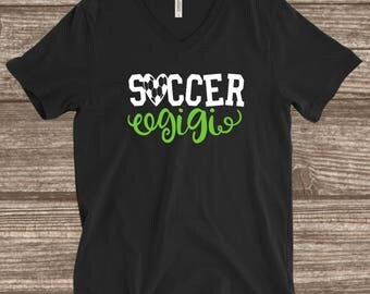 Soccer Gigi Shirt - Custom Soccer Shirts - Lime Green Soccer Shirts - Soccer Fan Shirts - Soccer Mom Shirts