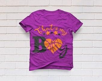 Basketball svg, That's my boy svg, Basketball mom svg, Basketball shirt, SVG Files, Cricut, Cameo, Cut file, Clipart, Svg, DXF, Png, Eps