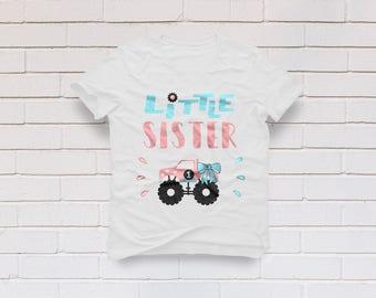 Sister svg, Little Sister svg, Monster Truck svg, Sibling svg, Bow svg, Birthday svg, Sister Shirt, Cricut, Cameo, Svg, DXF, Png, Pdf, Eps