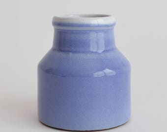 vintage retro small cornflower blue flower vase