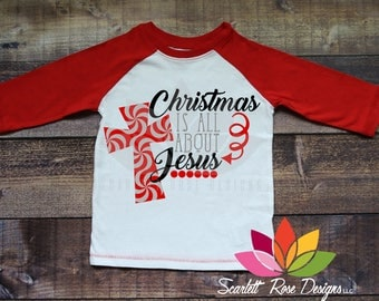 Christmas SVG, Christmas is all about Jesus, Cross, Religious, Reason for the Season, Jesus shirt cut file for silhouette cameo and cricut