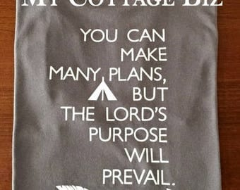Making Plans Scripture T-shirt, Proverbs 19:21