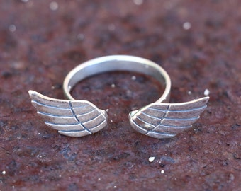 Angel Wing Ring, Rings, Silver Ring, Sterling Silver Ring, Fashion Ring, Silver Jewellery, Antique Ring, Antique Jewellery, JR0010