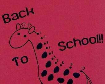 Back To School dot to dot Giraffe