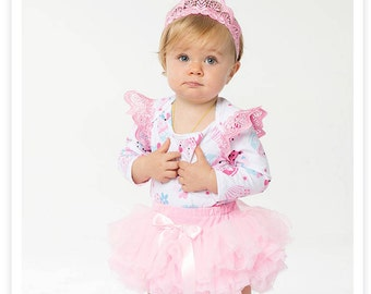baby girl, Toddler's first birthday outfits-3 pcs tutu skirt, headband,romper ,dress