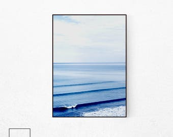 Ocean Poster, Sea Poster, Sea Wall Art, Beach Print, Beach Poster, Coastal Decor, Coastal Wall Art, Sea Horizon, Coastal Print, Scandinavian