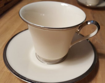 Lenox Solitaire Footed Cup & Saucer