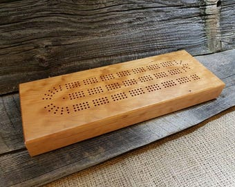 Deluxe Cherry Cribbage Board