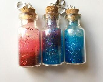 Customizable resin bottle charm//Resin//Bottle Charm