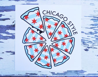 Chicago Style Pizza - Print
