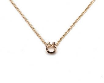 Lucky Horse Shoe Charm Necklace- Gold HorseShoe- Good Luck Jewelry