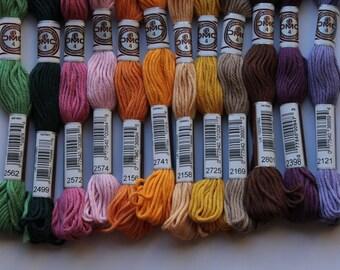 Fils de coton Retors DMC 89 n 2562,2499,2572,2574,2156,2741,2158,2725,2169,2801,2398,2121 pour canevas vendu à l'unité