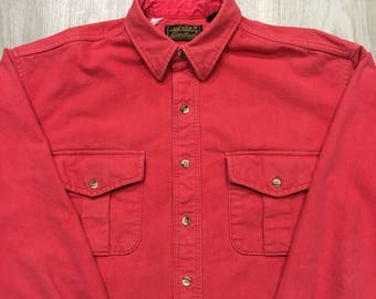Eddie Bauer Vintage Canvas Shirt - Unisex/Men's Size Large
