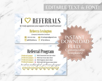 Blue Marble Business Cards RF Business Cards Rodan and Fields Business Cards Rodan and Fields Rodan and Fields Referral Card Rodan Fields