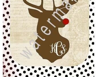 Hunting svg - Hunting shirt  silhouette cameo cricut  Rudolph svg Deer season T shirt iron on transfer JPEG Deer svg Deer hunter Monogram