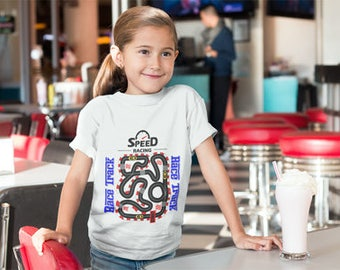 New!!! Speed Track Kids T shirt 3 RACE CARS INCLUDED!!!