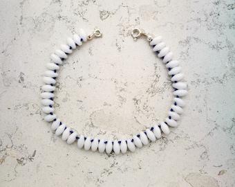 "White mixed bracelet ""Tahiti"""