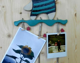 Teddy bears photos or messages to hang-wood