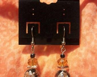 Oriental Foiled Glass Earrings