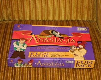 ANASTASIA Disney 1997 Activity Pack from Movie 1990s Hershey's Chcolate Coloring Book Stickers Toy Grand Duchess Anastasia Anya