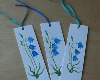 Blue Bells Bookmarks/Blue Bell Bookmarks/Floral Bookmarks/Hand-Made Bookmarks/Blue Bell Watercolour/Blue Bell Painting/Blue Bell/Blue Bells