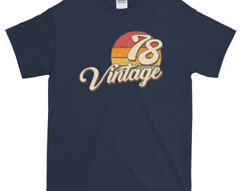 Vintage 1978 40th Birthday Short-Sleeve T-Shirt