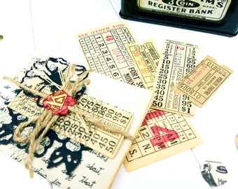 Vintage Tickets / Bus Tickets / Movie Tickets / Collage Vintage Tickets / Vintage Trinkets / Ephemera