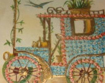 Vintage Floral Postcard (Car #5)
