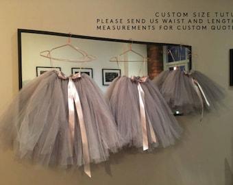 Tutu, girls tutu, flower girl tutu, ballet tutu, bridesmaid tutu, baby tutu, tulle skirt, wedding tutu, flower girl dress, tulle tutu skirt